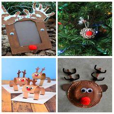 manualidades-navidad-renos Toy Craft, Craft Box, Winter Activities, Toddler Activities, Paper Toys, Paper Crafts, Christmas Crafts, Christmas Ornaments, Crafts For Kids