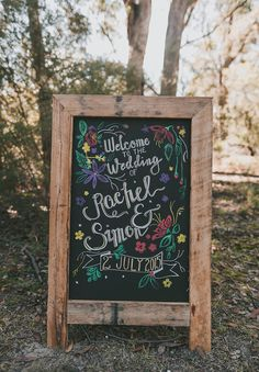 Rachel Simon – Hello May Bush Wedding, Diy Wedding, Dream Wedding, Forest Wedding, Woodland Wedding, Wedding Reception, Wedding Stuff, Wedding Ideas, Chalkboard Wedding