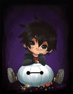 "geryri: "" Big Hero 6 halloween fan art… :) Happy Halloween!! """