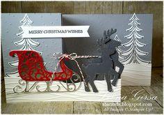 A La Cards: Santa's Sleigh Double Z-fold