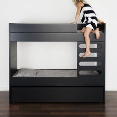 AVA bunk bed Kids -black