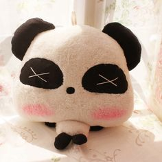 High quality lovers pillow handmade pillow plush cushion doll panda
