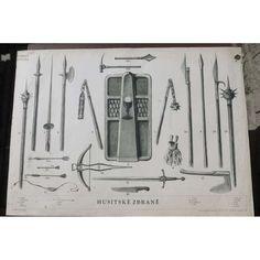 Husitské zbraně - školní plakát