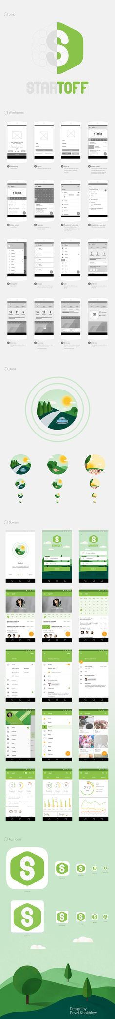 Startoff to-do app on Behance