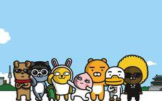 ~💗Hanboklu Hanım💗~: 💗Sevimli Duygu Aktarma Uzmanları : KAKAO FRIENDS ... Macbook Wallpaper, Computer Wallpaper, Aesthetic Desktop Wallpaper, Desktop Wallpapers, Kakao Friends, Character Wallpaper, Line Friends, Funny Stickers, Tumblr Wallpaper