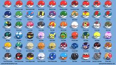 Pokeballs and Their Names | All Poke Balls - Labeled by seancantrell