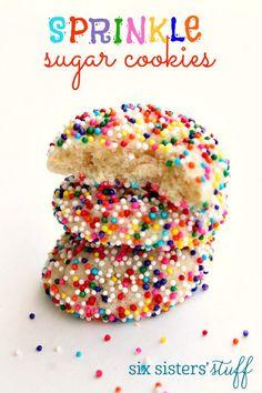 Sprinkle Sugar Cookies on SixSistersStuff.com