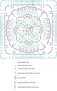 Here is the pattern for Moroccan crochet square #7