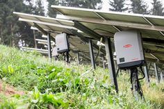 Commercial field installation at above sea level in Treglwang, Autrian alps, with 12 Fronius Eco solar inverters Solar Inverter, Sea Level, Alps, Solar Power, Commercial, Outdoor Decor, Solar Power System, Solar Energy