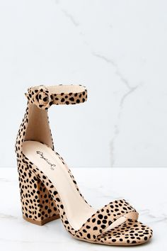 8682b59db8169 Can t Stop Won t Stop Cheetah Print Ankle Strap Heels (BACKORDER APRIL)