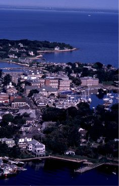 Woods Hole, Massachusetts  - with the Marine Biological Laboratory in the center