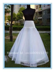 1 Hoops A-line  White Wedding Bridal Accessories Petticoat/Underskirt on AliExpress.com. $17.99