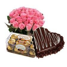 Combination of lovely bunch of roses with delicious cake and mouth-watering chocolates is the sweetest gift that you can give to someone you love the most and make a blissful memory. For such wonderful combinations you can visit us at http://www.deccansojourn.com/combo_index.htm