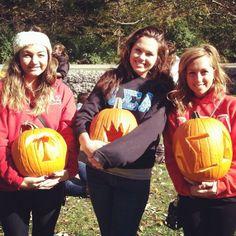Palm pumpkin, crown pumpkin, AΣA pumpkin from Epsilon Phi Chapter, Indiana University