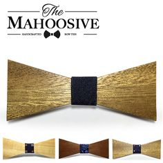 Men's Wooden Bow Tie Mahoosive Brand wood Classic Tie Bowtie Gift For Men Business Shirts Bowknot Bow Tie Cravats Accessories