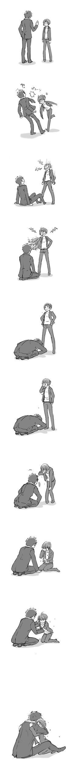 """Kougami Shinya"" ""Tsunemori Akane"" it's odd how much this is like my boyfriend and I"