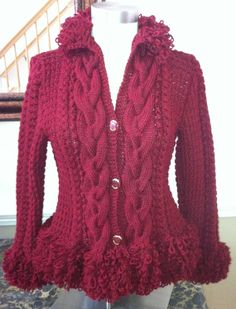 Loop Trim Cardigan by The Knitting Mission on Etsy, $225.00