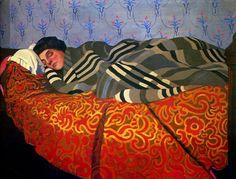 Laid down woman, sleeping - Felix Vallotton