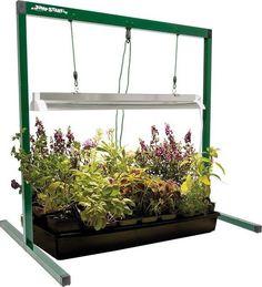 Indoor Garden Grow Light T5 2 Ft Adjustable Stand Fixture FLT, FLV, and FLP Tube…