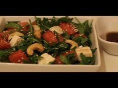 Salata de rucola cu pepene rosu Caprese Salad, Salad Recipes, Salads, Chicken, Meat, Kitchen, Youtube, Cooking, Kitchens
