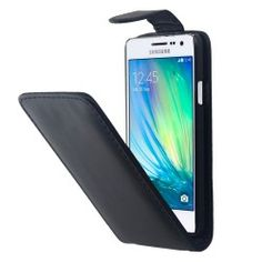 Samsung A3 Vertical Flip case, cover, hoesje Zwart