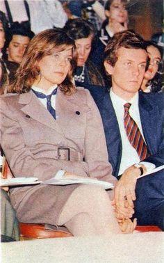 Princess Caroline of Monaco and Stefano Casiraghi.1984.