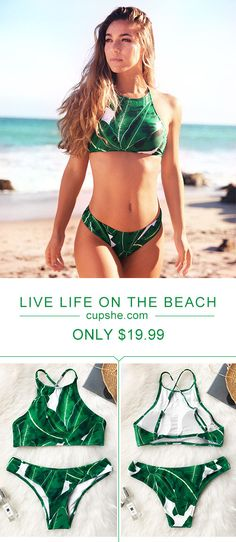 This summer is gonna be so lit! Catch the hottest sale of the season. $19.9 Cupshe Living For Forest Leaves Bikini Set has the top quality and comfort feeling for you to try. Shop now! Bikini Swimwear, Bikini Set, Summer Body Goals, Tank Design, Baywatch, Cute Swimsuits, Swimsuit Cover Ups, Surfs, Bathing Beauties
