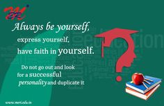 """""""Always be yourself, express yourself, have faith in yourself. Do not go out and look for a successful personality and duplicate it."""" - Bruce Lee#MeriCollege #QuoteOfTheDay"""