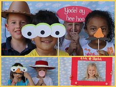 Toy Story photo booth Free Birthday printables-they have a girl one too Picnic! Wreck it Ralph Birthday Party Theme Game Kids Girl Boy Sweet. Toy Story Theme, Toy Story Party, Toy Story Birthday, Boy Birthday, 5th Birthday Party Ideas, Cowgirl Party, Childrens Party, Photo Booth, Photo Props