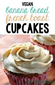 Banana Bread French Toast Cupcakes [Vegan] http://onegr.pl/Weq78O #recipe #vegancupcake #vegandessert