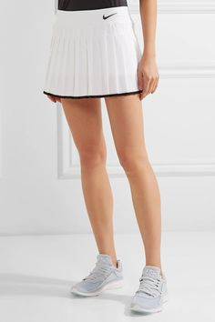 Nike - Victory Pleated Dri-fit Stretch Tennis Skirt - White -