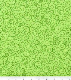 Keepsake Calico™ Cotton Fabric-Swirl Lime Garden
