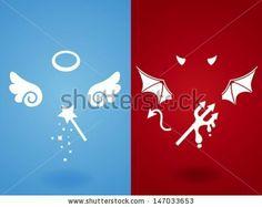 Angel & Devil Concept - Vector File EPS10 by anpannan, via Shutterstock