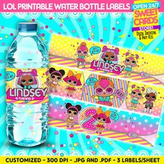 I Found on Etsy. LOL surprise Water Bottle Labels, LOL surprise party, LOL surprise birthday, lol surprise labels, lol surprise birthday,lol surprise,lol