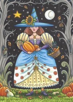 All Art Galleries: . (Search Results for 'witch') page 1 of Whimsical Halloween, Halloween Artwork, Halloween Painting, Halloween Images, Halloween Wallpaper, Whimsical Art, Halloween Cards, Holidays Halloween, Vintage Halloween