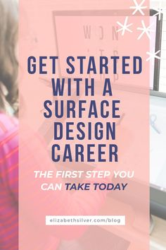 How to start a career in surface design - with a free quiz and accelerator course that will teach you what you need to know to establish your niche and start building an online business