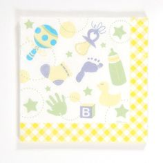 baby shower patterned printed napkins Case of 36