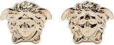 Versace: Gold Medusa Stud Earrings | USD $185 | SSENSE