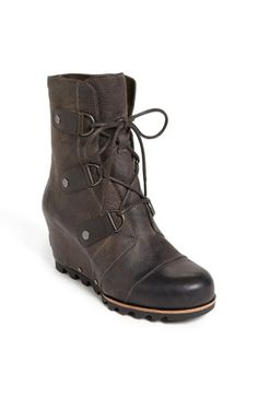 SOREL 'Joan of Arctic' Wedge Boot at Nordstrom. An easy wedge modernizes a slopes-inspired boot designed with durable D-rings and a sturdy, no-slip sole. Sorel Joan Of Arctic, Joan Of Arctic Wedge, Best Winter Boots, Sorel Winter Boots, Winter Shoes, Winter Gear, Fall Winter, Sorel Wedge Boots, Outfits