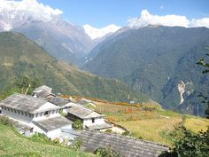 Beautiful village and mountains around the Annapurna Sancutary.