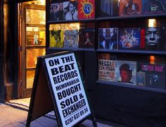 On The Beat Records, 22 Hanway Street, London W1 - a great old record store