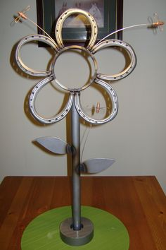 Image detail for -Miller - Welding Projects - Idea Gallery - Horse Shoe Flower
