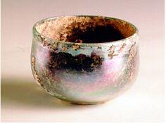 """Roman glass 100 BC. 2.5"""" tall"""