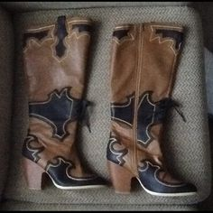 """Selling this """"AMAZING CUTOUT COWBOY WESTERN TALL KNEE BOOTS sz 8"""" in my Poshmark closet! My username is: backbend31. #shopmycloset #poshmark #fashion #shopping #style #forsale #Boots"""