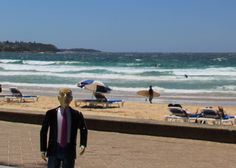 Here we are enjoying the scenic beach at Manly, just a short ferry ride from Sydney
