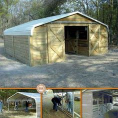 Building a Chicken Coop Metal carport into enclosed building/shed/barn/chicken coop. Building a chicken coop does not have to be tricky nor does it have to set you back a ton of scratch. Shed Building Plans, Building A Chicken Coop, Shed Plans, House Plans, Building Homes, Carport Sheds, Diy Carport, Portable Carport, Barns Sheds
