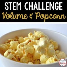 It's the Popcorn Challenge! It's all about using volume to determine the size of a container! STEM Challenges are great activities to engage students in their learning. Kids love the hands-on experiences!