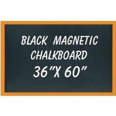 "NEOPlex 36"" x 60"" Wood Framed Black MAGNETIC Chalkboard"