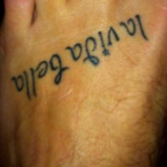 My foot Tat! Means the beautiful life :)