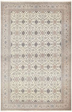 Oversized Vintage Persian Nain Habibian Carpet 50161